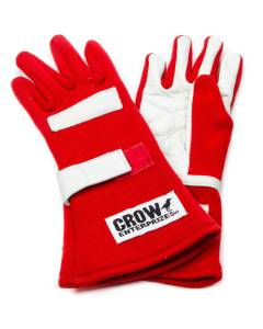 CROW ENTERPRIZES #11722 Gloves Large Red Nomex 2-Layer Standard