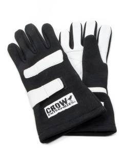 CROW ENTERPRIZES #11724 Gloves Large Black Nomex 2-Layer Standard