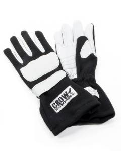CROW ENTERPRIZES #11774 Gloves Large Black Nomex 2-Layer Wings