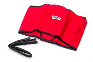 CROW ENTERPRIZES #20172 Helmet Skirt Red Velcro Attachment