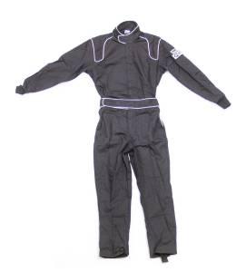 CROW ENTERPRIZES #24004 Driving Suit 1-Piece BK 1-Layer Proban Small