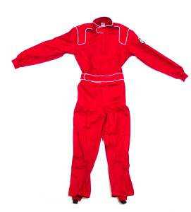 CROW ENTERPRIZES #24062 Driving Suit Junior Red Proban Small 1-Piece