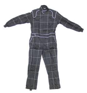 CROW ENTERPRIZES #27014 Driving Suit 1-Piece BK 2-Layer Proban Medium