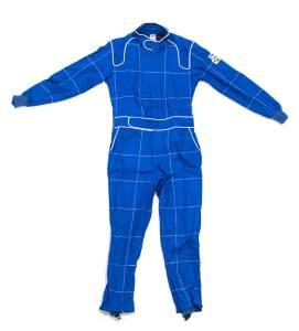 CROW ENTERPRIZES #27033 Driving Suit 1-Piece BL 2-Layer Proban XL