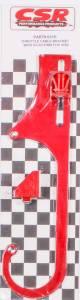 CSR PERFORMANCE #631R 4150 Adj. Throttle Cable Bracket w/Kickdown- Red