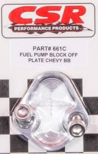 CSR PERFORMANCE #661C BBC F/P Block-Off Plate - Clear