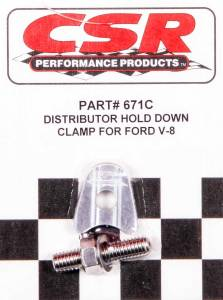 CSR PERFORMANCE #671C Ford V8 Distributor Hold Down Clamp - Clear