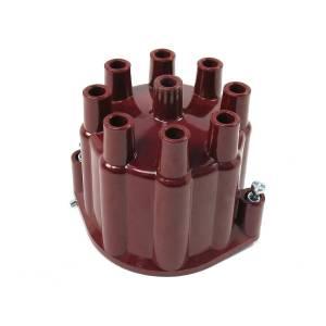 PERTRONIX IGNITION #D650701 Cap Red 8 cylinder Flame-Thrower Billet Distributor D650701