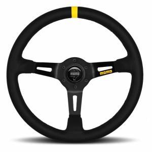 MOMO AUTOMOTIVE ACCESSORIES #R1908/35L MOD 08 Steering Wheel Black Leather