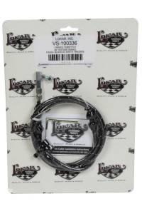LOKAR #VS-1003 VS Throttle Cable Black Black Wrap w/ White Trac