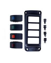 DAYSTAR PRODUCTS INTERNATIONAL #KJ71056BK 07-17 Jeep JK A-Pillar Switch Pod w/ 4 Switches