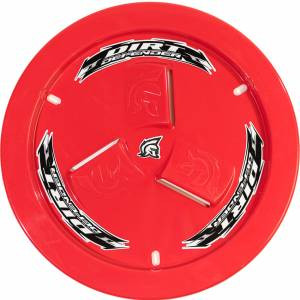 DIRT DEFENDER RACING PRODUCTS #10190 Wheel Cover Red Vented
