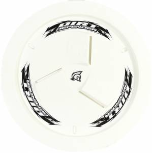 DIRT DEFENDER RACING PRODUCTS #10240 Wheel Cover White Vented