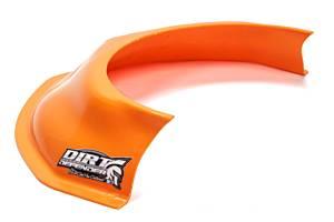 DIRT DEFENDER RACING PRODUCTS #10350 Hood Scoop Orange 3.5in Tall