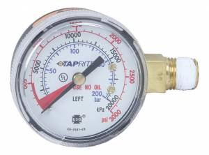 DEDENBEAR #GHP High Pressure Gauge for CO2 Regulator