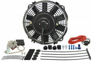 DERALE #16309 9in Fan Straight Blade Fan &Thermostat 475 CFM