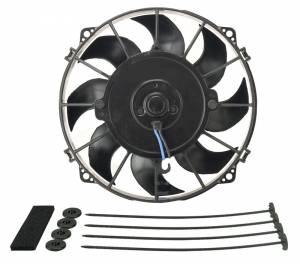 DERALE #16618 8in Tornado Electric Fan w/Standard  Mounting Kit