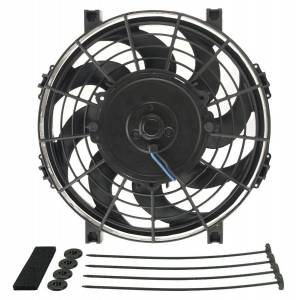 DERALE #16619 9in Tornado Electric Fan w/Standard  Mounting Kit