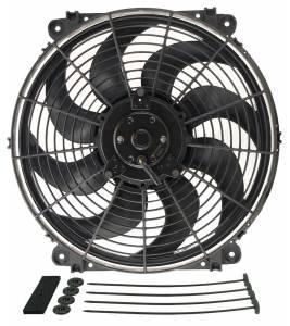 DERALE #16624 14in Tornado Electric Fan w/Standard Mount Kit