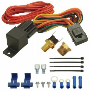 DERALE #16720 180F Fan Switch Thremost Relay Kit 1/8in & 3/8