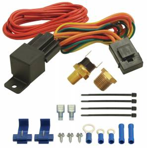 DERALE #16721 190F Fan Switch Thermost at Relay Kit 1/8in & 3/8
