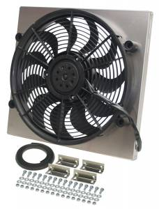 DERALE #16819 RAD Fan w/Alum Shroud Assembly