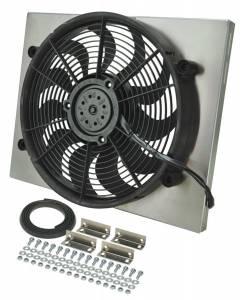 DERALE #16823 RAD Fan w/Alum Shroud Assembly