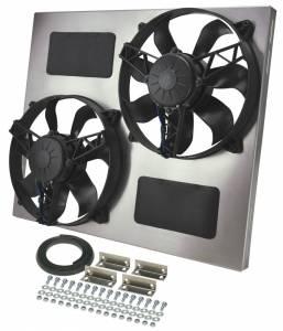 DERALE #16835 Dual RAD Fan w/Alum Shroud Assembly