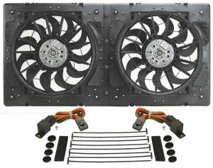 DERALE #16934 14in Dual High Output RAD Fans Puller