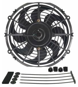DERALE #18910 10in Dyno-Cool Curved Blade Electric Fan