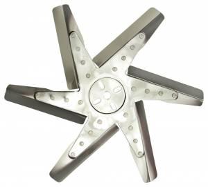 DERALE #19717 17in Stainless Steel Flex Fan (Chrm Hub)