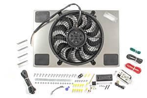DERALE #66827 PWM Single RAD Fan/ Aluminum Shroud Assembly