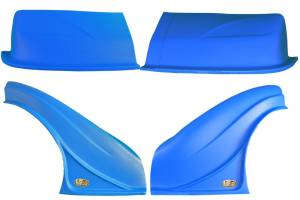 DOMINATOR RACING PRODUCTS #2200-BL D2X Dirt Nose & Flares Blue