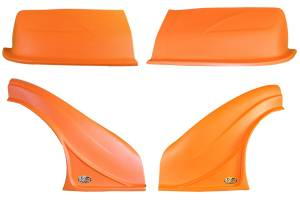 DOMINATOR RACING PRODUCTS #2200-OR D2X Dirt Nose & Flares Orange