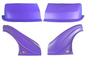 DOMINATOR RACING PRODUCTS #2200-PU D2X Dirt Nose & Flares Purple