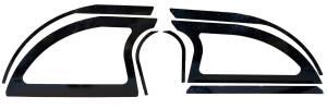 DOMINATOR RACING PRODUCTS #805-AL-BK Aluminum Sails Black Pair Open Style
