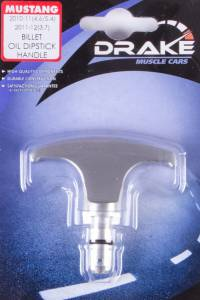 DRAKE AUTOMOTIVE GROUP #AR3Z-6750-BL Oil Stick Handle Billet 05-14 Mustang3.7/4.6/5.4