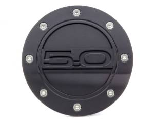 DRAKE AUTOMOTIVE GROUP #FR3Z-6640526-5A Fuel Door 5.0 Black 15- Mustang