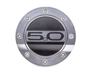 DRAKE AUTOMOTIVE GROUP #FR3Z-6640526-5S Fuel Door 5.0 Silver/Blk 15-   Mustang