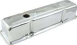DART #68000050 SBC Steel Chrome Tall V/C's w/Dart Logo
