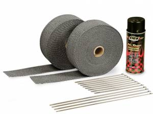DESIGN ENGINEERING #10110 2in Exhaust Wrap Kit Blk w/Blk Silicone Coating