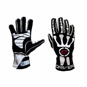 Black Skeleton Gloves Large