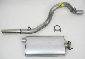 DYNOMAX #19391 00-06 Jeep Wrangler 4.0L Cat Back Exhaust Kit