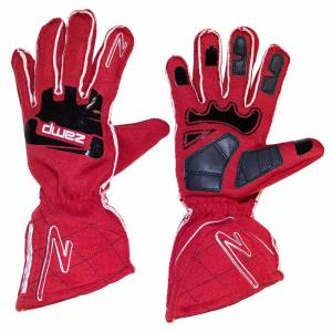 ZAMP #RG10002XL Gloves ZR-50 Red X-Large Multi-Layer SFI 3.3/5