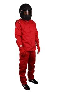 RJS SAFETY #200440409 Pants Red 4X-Large SFI-3-2A/5 FR Cotton