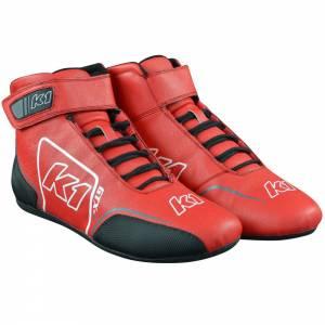 K1 RACEGEAR #24-GTX-R-65 Shoe GTX-1 Red / Grey Size 6.5