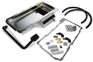 TRANS-DAPT #183 67-69 Camaro Chrome LS Swap Oil Pan/Filter Kit