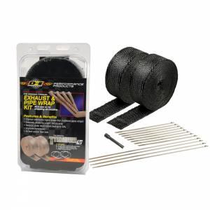 DESIGN ENGINEERING #10073 Exhaust & Pipe Wrap Kit Black Titanium