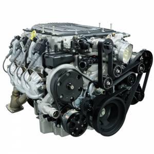 BILLET SPECIALTIES #BLK13500 Tru Trac Pulley System GM LT4 Black w P/S & A/C