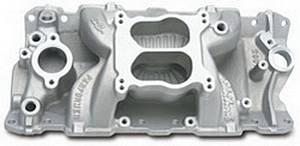EDELBROCK #2601 SBC Performer Air Gap Manifold - 262-400